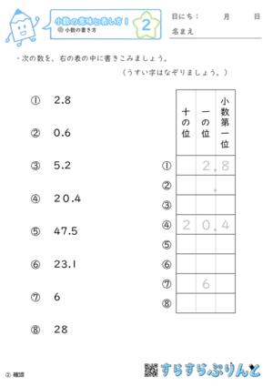 【02】小数の書き方