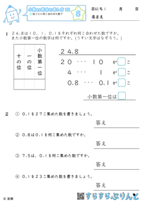 【08】位ごとに何こ合わせた数?【小数の意味と表し方12】