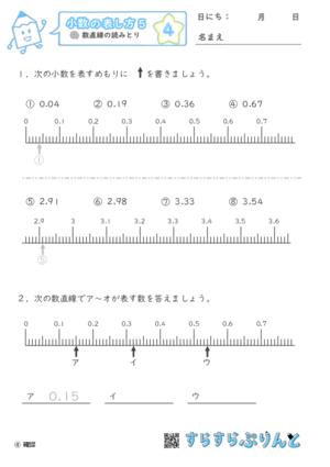 【04】数直線の読みとり【小数の表し方5】
