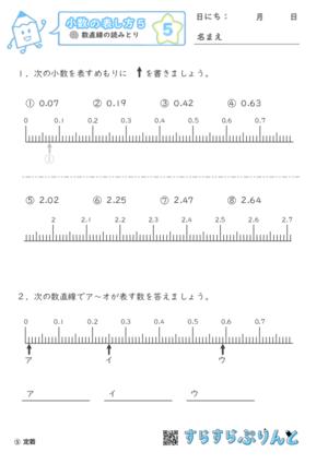 【05】数直線の読みとり【小数の表し方5】