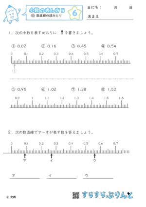 【06】数直線の読みとり【小数の表し方5】