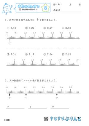 【08】数直線の読みとり【小数の表し方5】