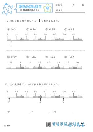 【09】数直線の読みとり【小数の表し方5】