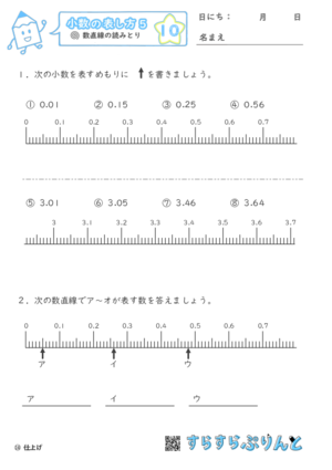 【10】数直線の読みとり【小数の表し方5】