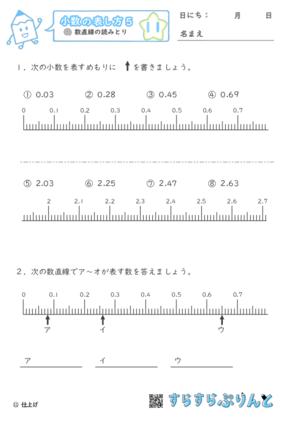 【11】数直線の読みとり【小数の表し方5】