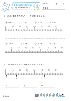 【13】数直線の読みとり【小数の表し方5】