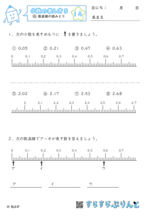 【14】数直線の読みとり【小数の表し方5】
