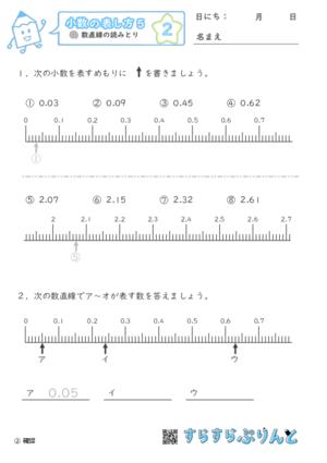 【02】数直線の読みとり【小数の表し方5】