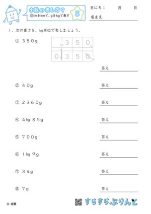 【08】mをkmに, gをkgに直す【小数の表し方9】