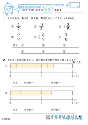 【15】真分数・帯分数・仮分数とは【分数1】