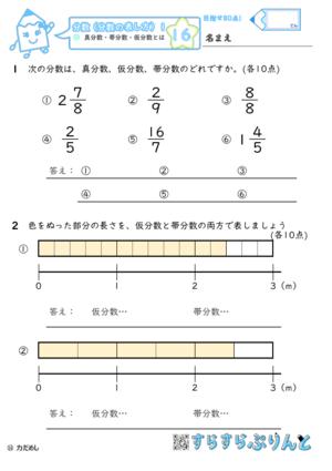 【16】真分数・帯分数・仮分数とは【分数1】
