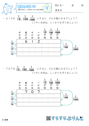【09】10分の1・100分の1などの位の移動